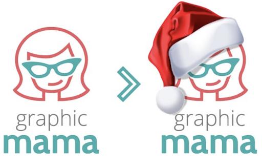 Graphic Mama Christmas Logo
