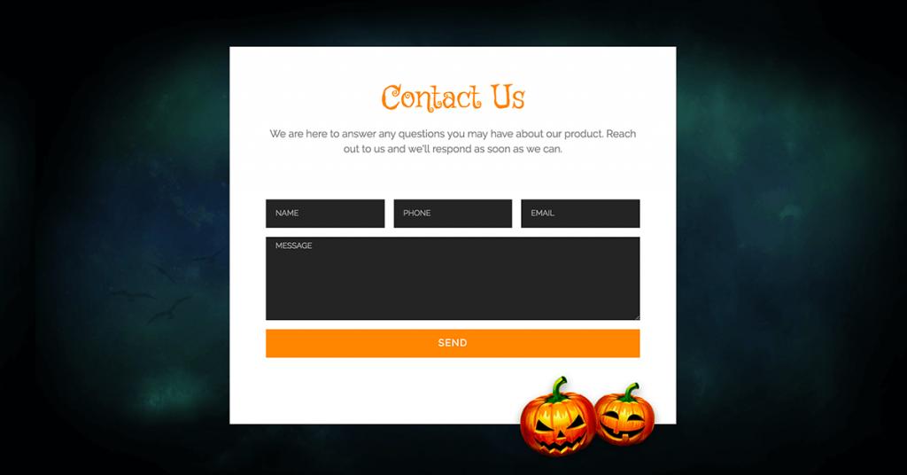Halloween Contact Form