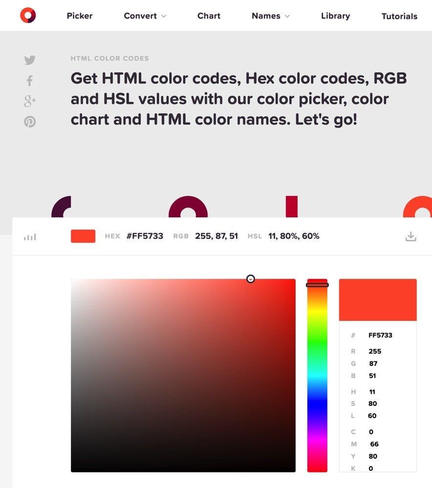 HTML Color Codes Tool