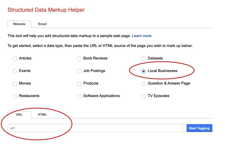 Structured Data Markup Helper